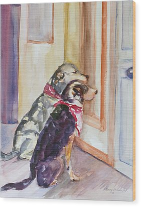Waiting For Mary Wood Print by Nancy Brennand