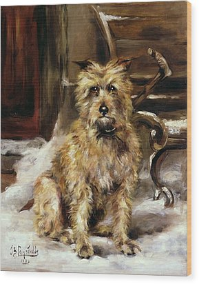 Waiting For Master   Wood Print by Jane Bennett Constable