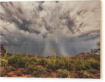 Waiting For Rain Wood Print by Rick Furmanek