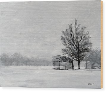 Waiting For Spring Wood Print by Peter Salwen