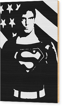 Wood Print featuring the digital art Waiting For Superman by Saad Hasnain