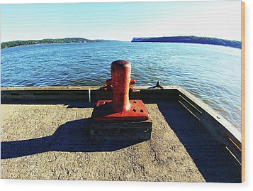 Waiting For The Ship To Come In. Wood Print