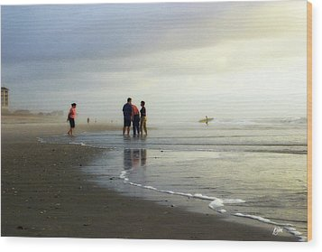 Wood Print featuring the photograph Waiting For The Sun by Phil Mancuso