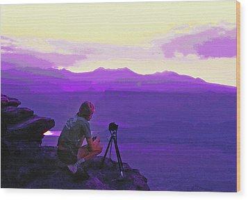 Waiting For The Sunrise - Dead Horse Point Utah Wood Print by Steve Ohlsen
