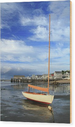 Waiting For The Tide Wood Print by Roupen  Baker