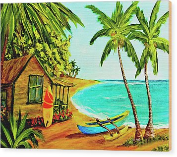 Waiting For The Waves Hawaii #387  Wood Print by Donald k Hall