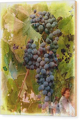 Waiting For Wine Wood Print by Dorothy Berry-Lound