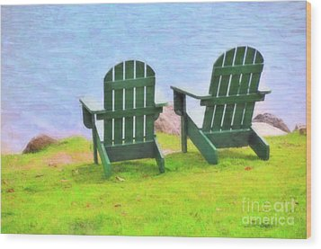 Waiting For You Wood Print by Betty LaRue