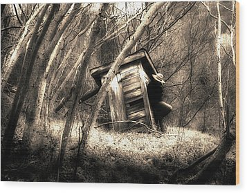 Wood Print featuring the photograph Waiting... by Gray  Artus