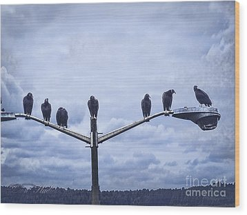Waiting Wood Print by Melissa Messick