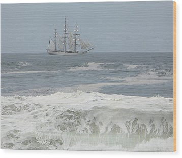 Waiting On My Ship Wood Print