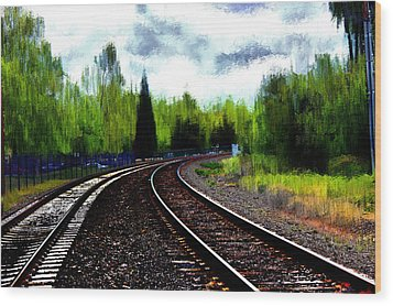 Wood Print featuring the mixed media Waiting On The Southern by Terence Morrissey