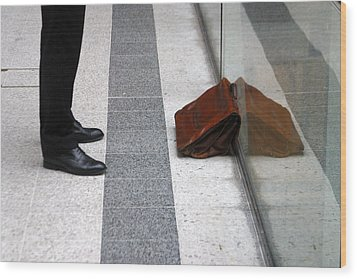 Waitng For The Office Wood Print by Jez C Self