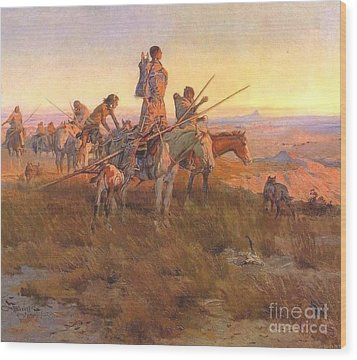 Wake Of The Buffalo Runners Wood Print by Pg Reproductions