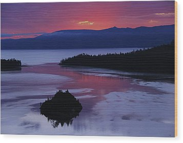 Wood Print featuring the photograph Wake Up In Lake Tahoe  by Sean Sarsfield