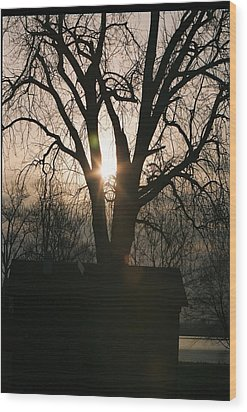 Wakonda Sunrise B Wood Print by C E McConnell