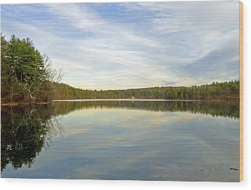 Walden Pond Wood Print