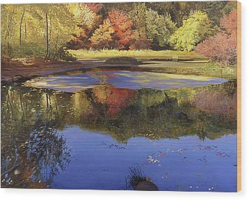 Walden Pond II Wood Print by Art Chartow
