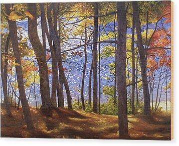 Walden Pond IIi Wood Print by Art Chartow