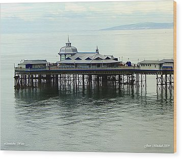Wood Print featuring the photograph Wales Boardwalk by Joan  Minchak