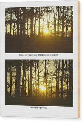 Wood Print featuring the photograph Walk In The Woods Two by Robin Coaker