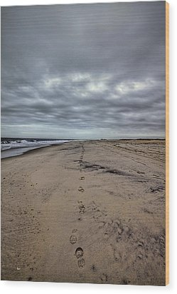 Walk The Line Wood Print by Evelina Kremsdorf