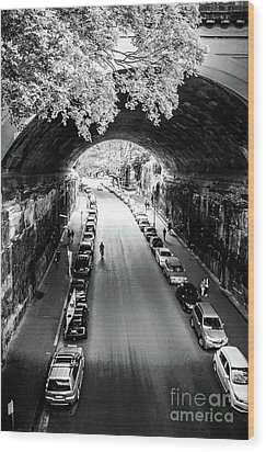 Wood Print featuring the photograph Walk The Tunnel by Perry Webster