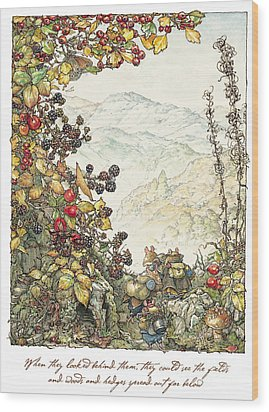 Walk To The High Hills Wood Print