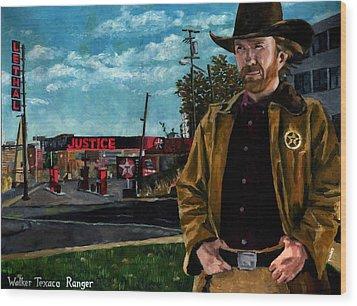 Walker Texaco Ranger Wood Print by Thomas Weeks