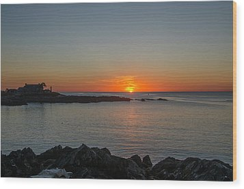 Walkers Point Kennebunkport Maine Wood Print