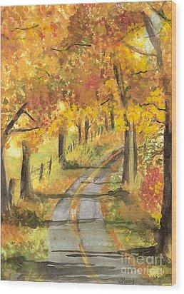 Walkin Wood Print by Vivian  Mosley