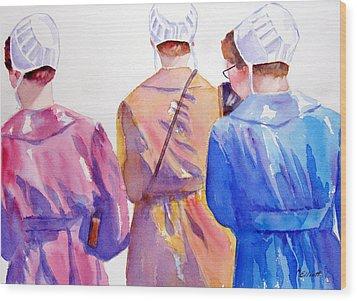 Walking By Faith Wood Print by Marsha Elliott