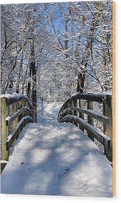 Walking In A Winter Wonderland Wood Print by Kristin Elmquist