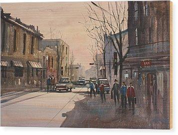Walking In The Shadows - Fond Du Lac Wood Print by Ryan Radke