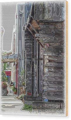 Walking Old Town Wood Print by Lori Mellen-Pagliaro