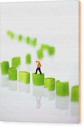Walking On Celery  Wood Print by Paul Ge