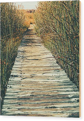 Wood Print featuring the photograph Walking Path by Alexey Stiop