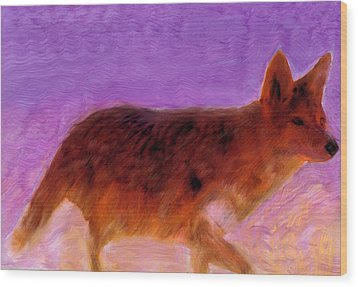 Wood Print featuring the painting Walking Strong by FeatherStone Studio Julie A Miller