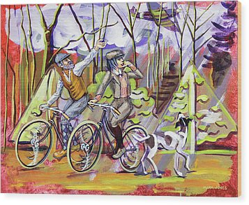 Walking The Dog 1 Wood Print by Mark Jones