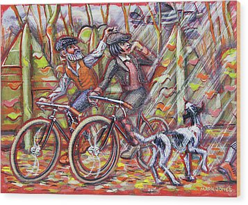 Walking The Dog 2 Wood Print by Mark Jones
