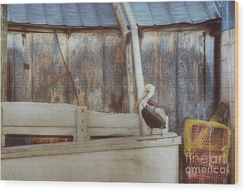 Wood Print featuring the photograph Walking The Plank by Benanne Stiens