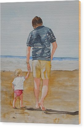 Walking With Pops Wood Print by Jean Blackmer