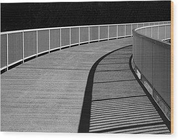 Walkway Wood Print by Chevy Fleet