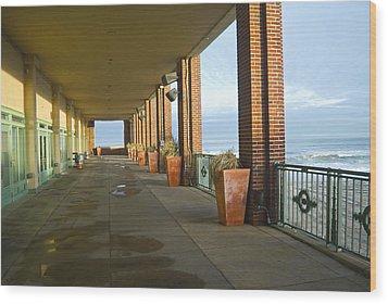 Walkway Convention Hall Wood Print by Andrew Kazmierski