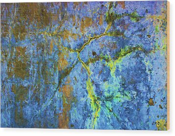 Wall Abstraction I Wood Print by Dave Gordon