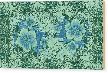 Wall Flower 8 Wood Print by Evelyn Patrick