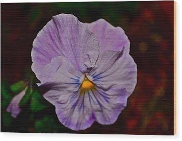 Wall Flower Wood Print by Brynn Ditsche