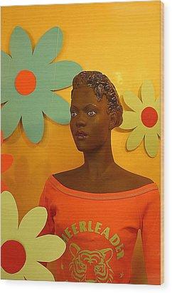 Wall Flower Wood Print by Jez C Self