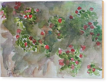 Wall Flowers Wood Print by Janet Butler