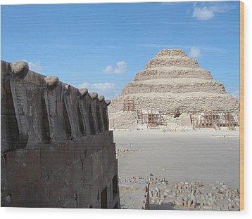 Wall Of Cobras At The Step Pyramid Wood Print